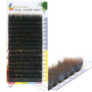 SUZY NATURAL DUAL COLOR LASH (BLACK-BROWN)