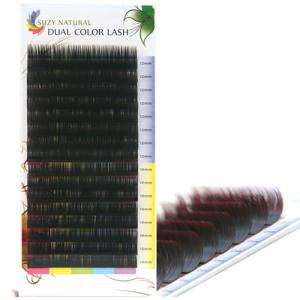 SUZY NATURAL DUAL COLOR LASH (BLACK-RED)
